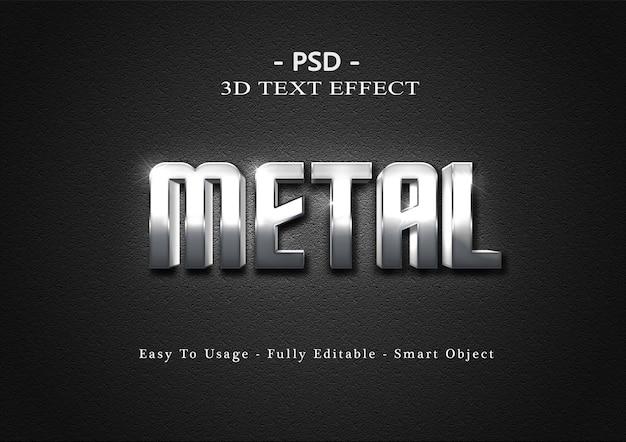 Modelo de efeito de texto de metal 3d