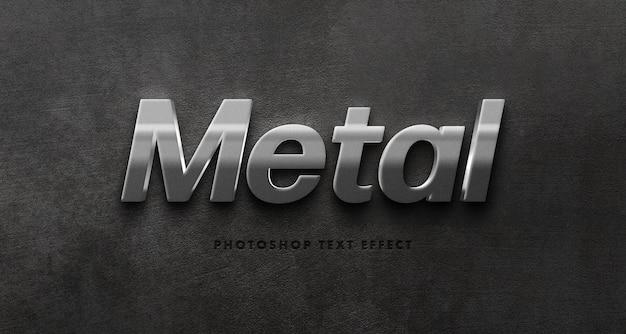 Modelo de efeito de texto de metal prateado