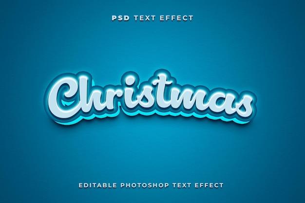Modelo de efeito de texto de natal 3d