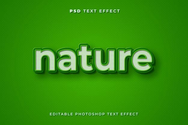 Modelo de efeito de texto de natureza 3d
