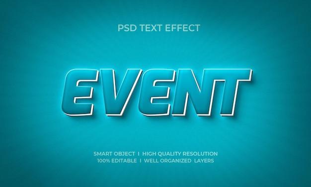Modelo de efeito de texto de néon de estilo 3d de evento