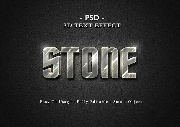 Modelo de efeito de texto de pedra 3d