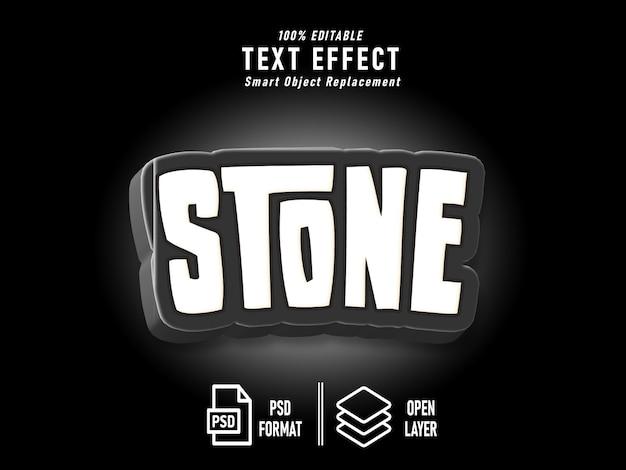 Modelo de efeito de texto de pedra preto