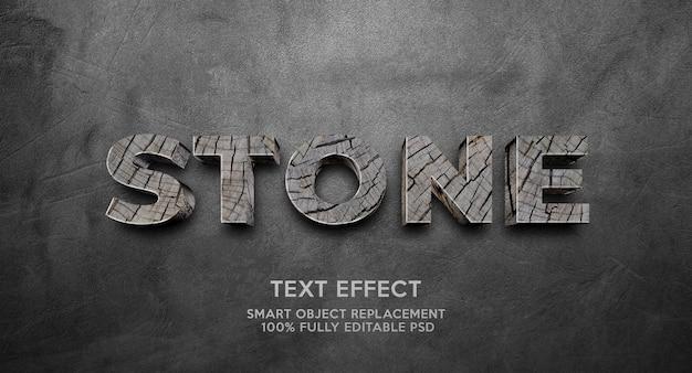 Modelo de efeito de texto de pedra