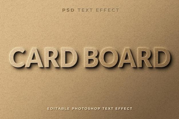 Modelo de efeito de texto de placa de cartão 3d