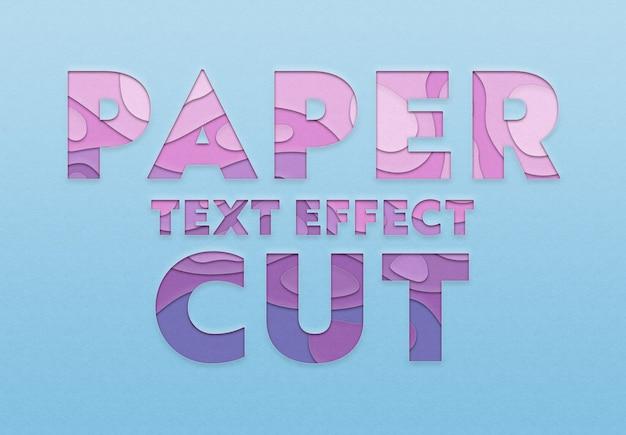 Modelo de efeito de texto de recorte de papel
