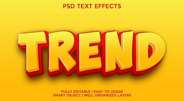 Modelo de efeito de texto de tendência
