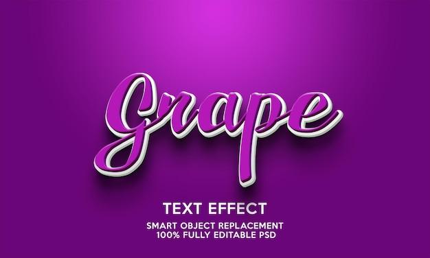 Modelo de efeito de texto de uva