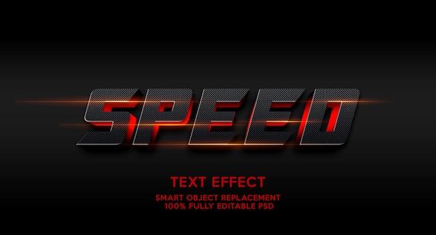 Modelo de efeito de texto de velocidade
