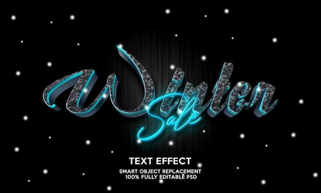 Modelo de efeito de texto de venda de inverno