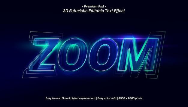 Modelo de efeito de texto de zoom 3d