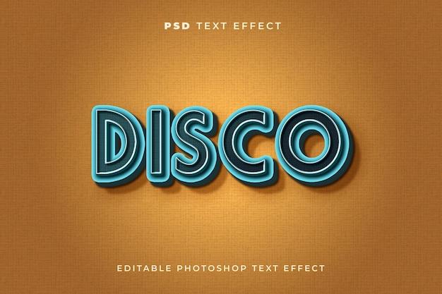 Modelo de efeito de texto disco com estilo vintage