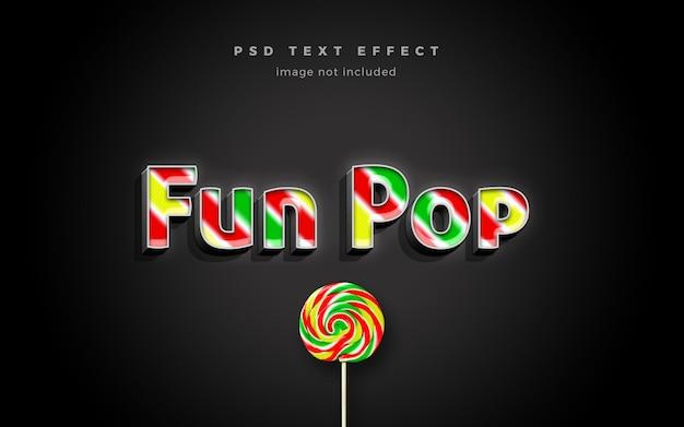 Modelo de efeito de texto divertido pop 3d