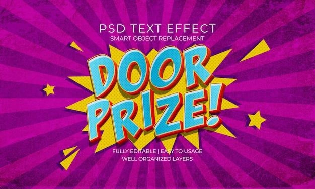 Modelo de efeito de texto do tamanho da porta