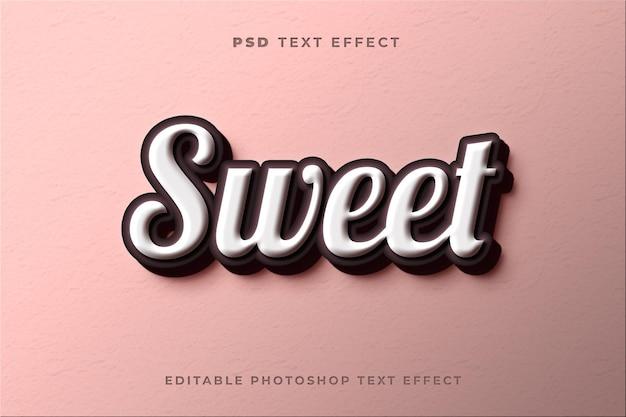 Modelo de efeito de texto doce 3d