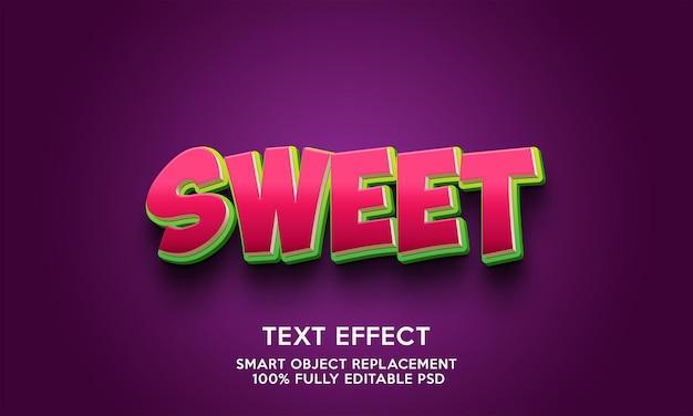 Modelo de efeito de texto doce