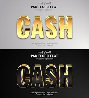 Modelo de efeito de texto dourado Psd Premium