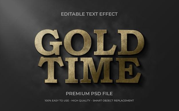 Modelo de efeito de texto dourado