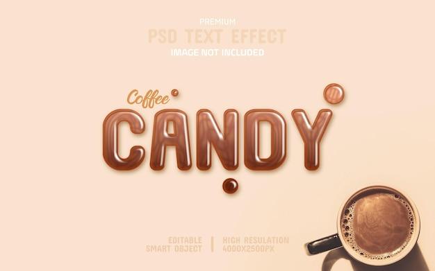 Modelo de efeito de texto editável candy psd