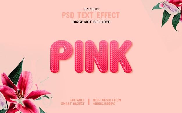 Modelo de efeito de texto editável flor rosa