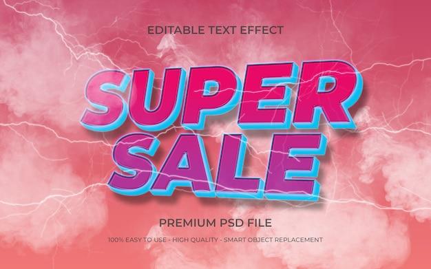 Modelo de efeito de texto editável