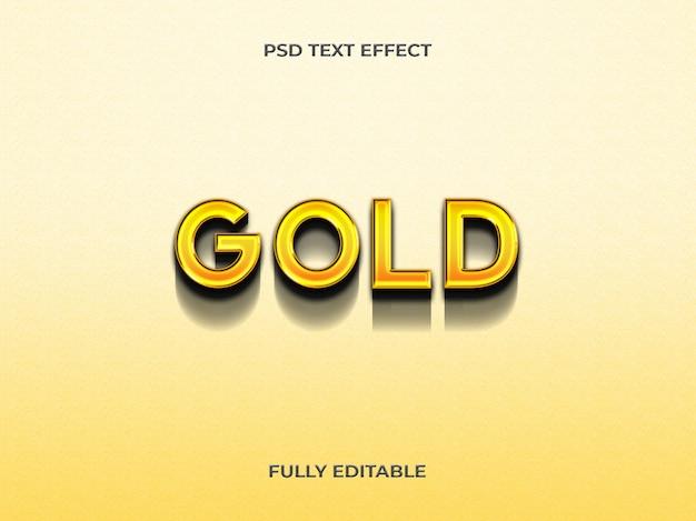 Modelo de efeito de texto em ouro 3d