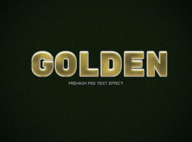 Modelo de efeito de texto em preto e dourado