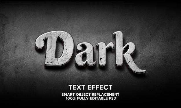 Modelo de efeito de texto escuro