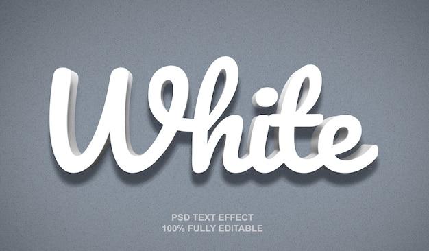 Modelo de efeito de texto estilo branco