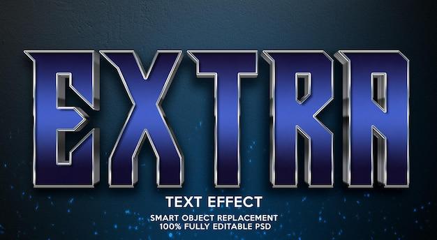 Modelo de efeito de texto extra