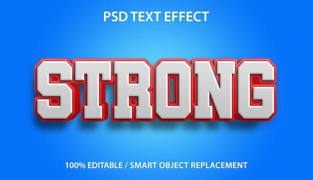 Modelo de efeito de texto forte