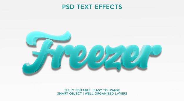 Modelo de efeito de texto freezer