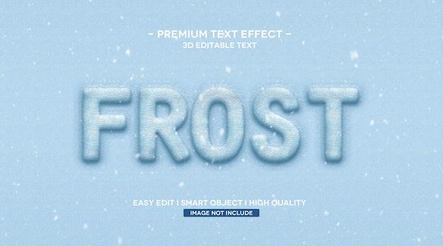 Modelo de efeito de texto frost 3d