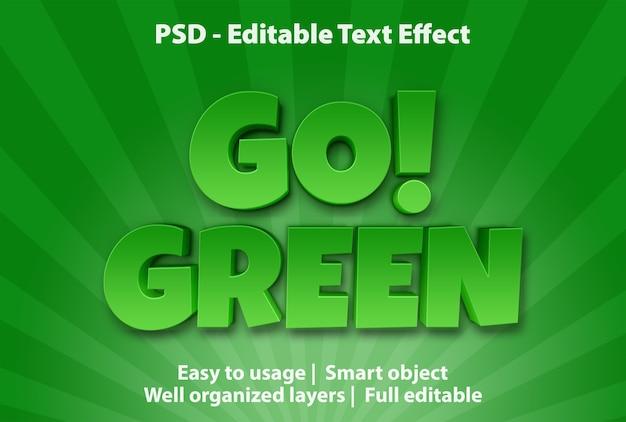 Modelo de efeito de texto go green