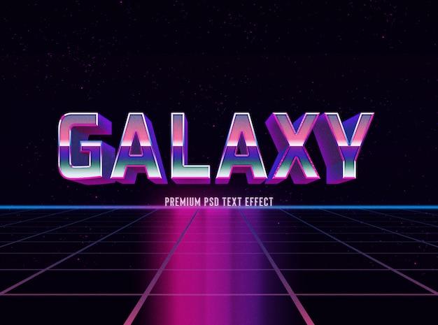 Modelo de efeito de texto gradiente galáxia