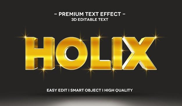 Modelo de efeito de texto holix 3d