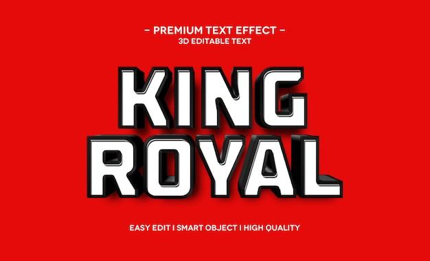 Modelo de efeito de texto king royal 3d