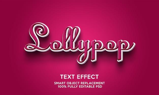 Modelo de efeito de texto lollypop