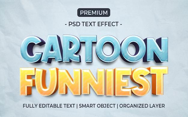 Modelo de efeito de texto mais engraçado de desenho animado