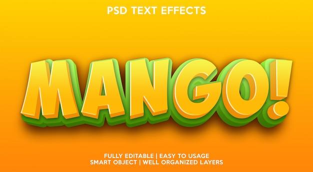 Modelo de efeito de texto manga