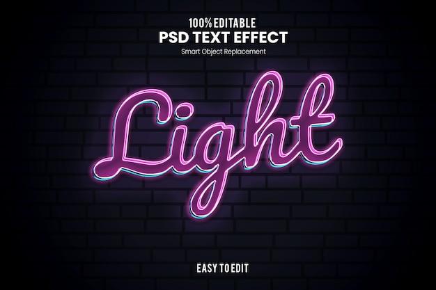 Modelo de efeito de texto neon 3d