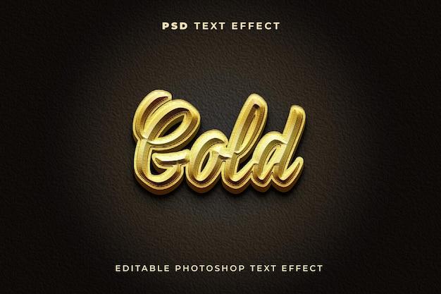 Modelo de efeito de texto ouro 3d
