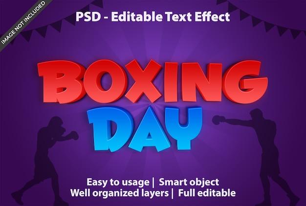 Modelo de efeito de texto para boxing day