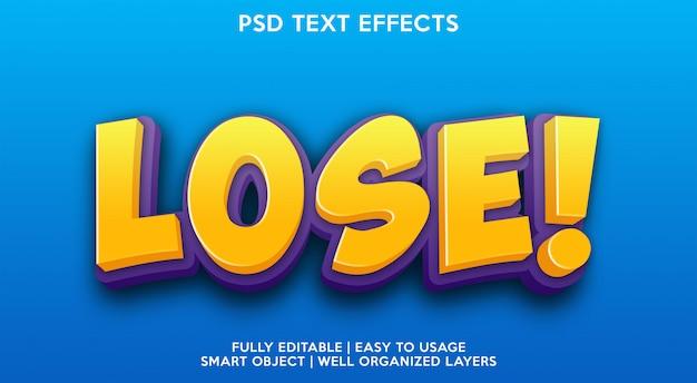 Modelo de efeito de texto perdido