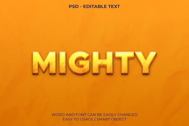 Modelo de efeito de texto poderoso