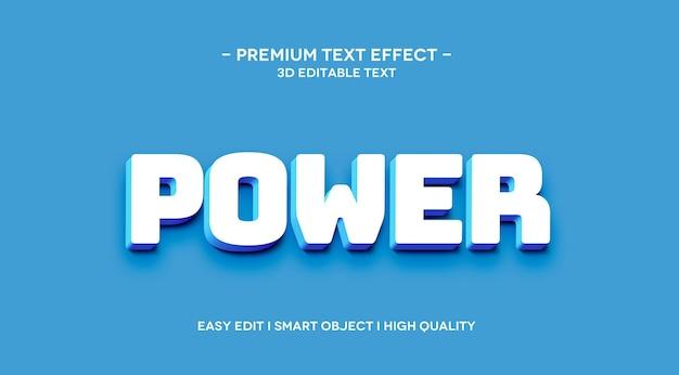 Modelo de efeito de texto power 3d