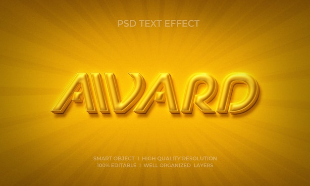 Modelo de efeito de texto prêmio luxo