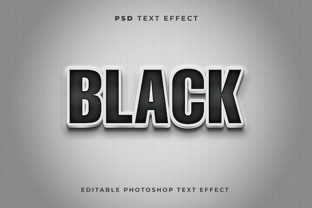 Modelo de efeito de texto preto 3d