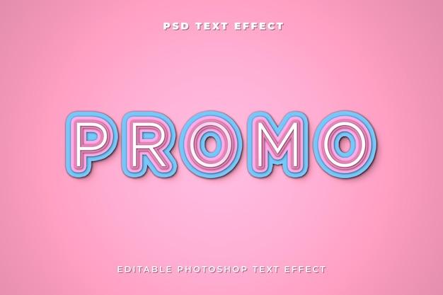 Modelo de efeito de texto promocional 3d