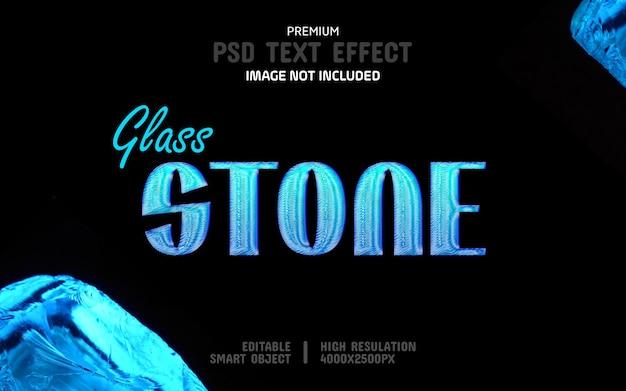 Modelo de efeito de texto psd editable blue stone